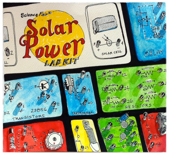 solar power drawing